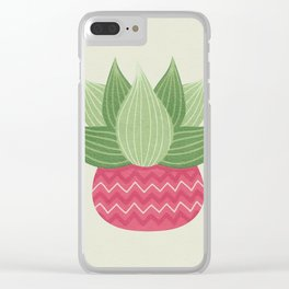 Watercolor Cactus Painting Clear iPhone Case
