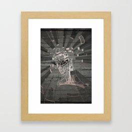 Exploding Head Guy Framed Art Print