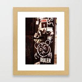 RULER Graffiti Grill Tokyo Framed Art Print