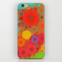 circles iPhone & iPod Skins featuring Circles by Mr and Mrs Quirynen