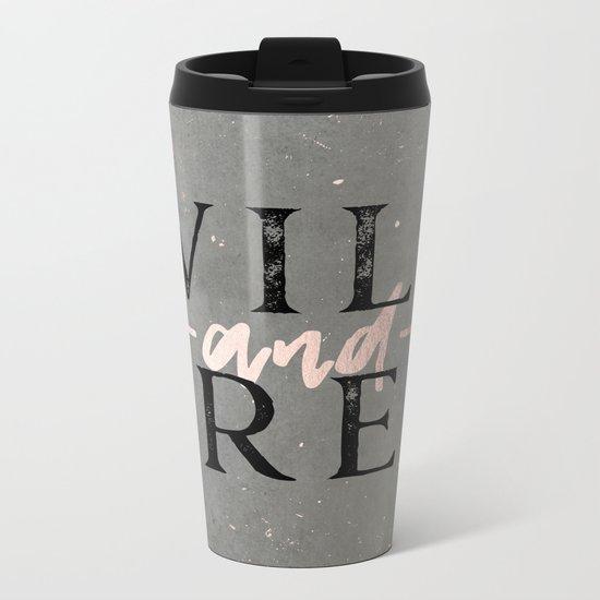 Wild and Free Rose Gold Metal Travel Mug