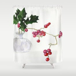 Berry Red Shower Curtain