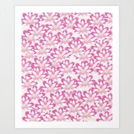 Lotus flower pattern Art Print
