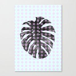 Monstera Dots Canvas Print