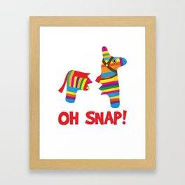 Broken Pinata Oh Snap! Funny Cinco De Mayo Mexican Framed Art Print