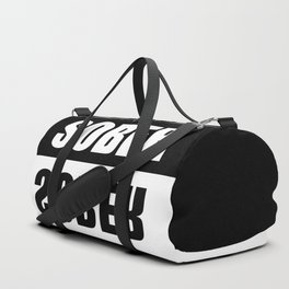 sober mirrored effect quote Duffle Bag
