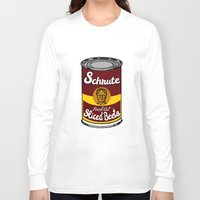 dwight schrute Long Sleeve T-shirts featuring Schrute Fresh Cut Sliced Beets  |  Dwight Schrute  |  The Office by Silvio Ledbetter