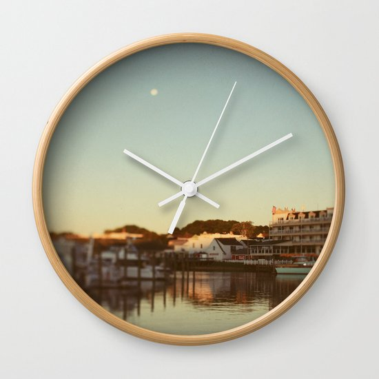 Harbor Moon Wall Clock