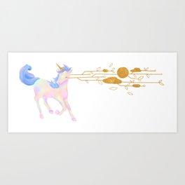 unicorn tears Art Print