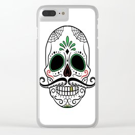 Day Dead Sugar Skull Clear iPhone Case