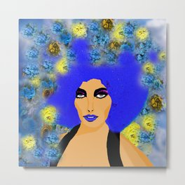 A WOMAN AND HER HAIR Metal Print