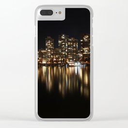 Night Reflections of Yaletown Clear iPhone Case