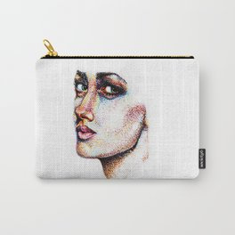 Portrait Pointed Out Carry-All Pouch