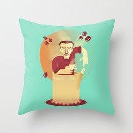 Eduardo's coffee Throw Pillow