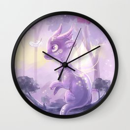 Purple dream Wall Clock