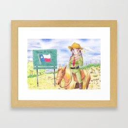 Texas Highway Patrol Framed Art Print