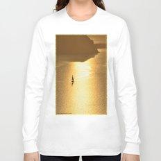 Golden Sailing on a Glittering Sea Long Sleeve T-shirt