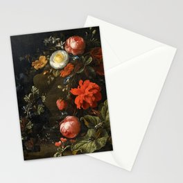Elias van den Broeck - Floral Still Life with Insects Stationery Cards