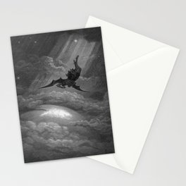 Satan descends upon Earth Gustave Dore Stationery Cards