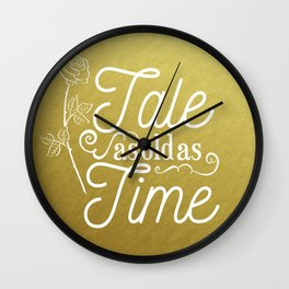 Tale As Old As Time - Beauty and the Beast (gold) Wall Clock