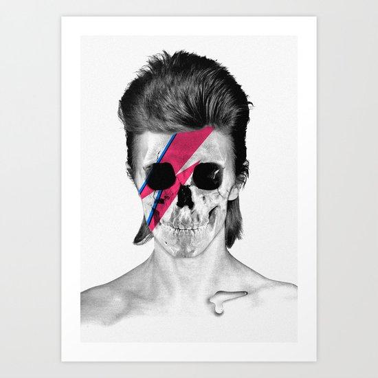 Skull Bowie Art Print