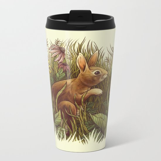 The Cottontail and the Katydid Metal Travel Mug