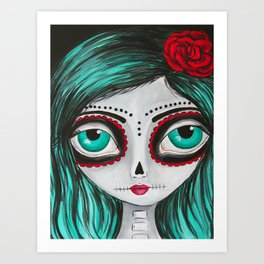 Muertos Girl in Green Art Print