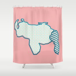 Mapa de Venezuela Shower Curtain