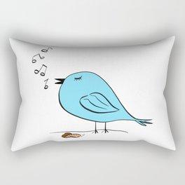 Early Bird Song Rectangular Pillow