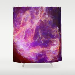 Purple geometric pattern Shower Curtain