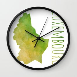 Luxembourg Wall Clock