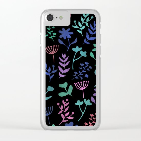 Lovely Pattern XI Clear iPhone Case