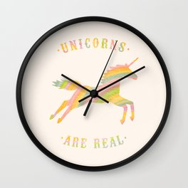 Unicorns Are Real Wall Clock