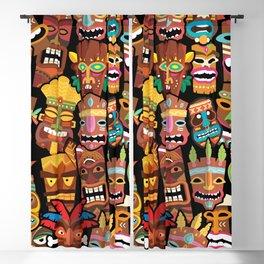 Tiki Pattern Blackout Curtain