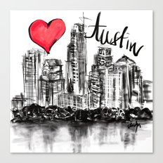 I love Austin Canvas Print
