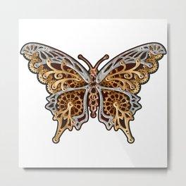 Clockwork Butterfly Metal Print