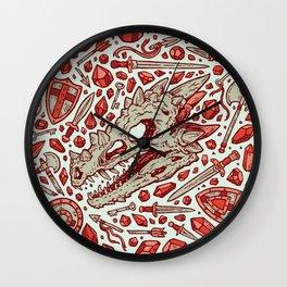 Hoard of the Gem Dragon | Ruby Wall Clock