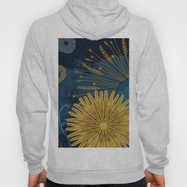 Navy floral background Hoody