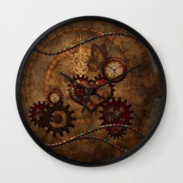 Steampunk, noble design Wall Clock