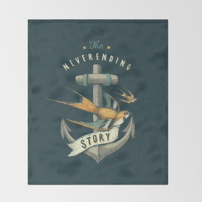 Anchor | Petrol Grey Throw Blanket