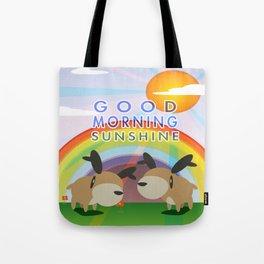 Good Morning Reindeer  Tote Bag