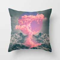soul Throw Pillows featuring Ruptured Soul  by soaring anchor designs