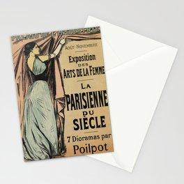 La Parisienne 1892 Women's Art Stationery Cards