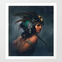Exotic Tribal Fusion Art Print