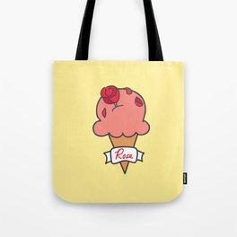 Rose Ice Cream Tote Bag