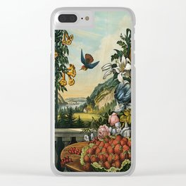 Landscape, Fruit and Flowers Clear iPhone Case