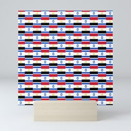 Mix of flag : Israel and Egypt Mini Art Print