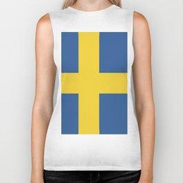 Sweden flag emblem Biker Tank