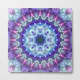 Sacred Lotus Mandala Metal Print