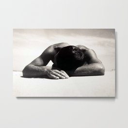 The Sunbather - Male form black and white photograph / photography by Max Dupain Metal Print